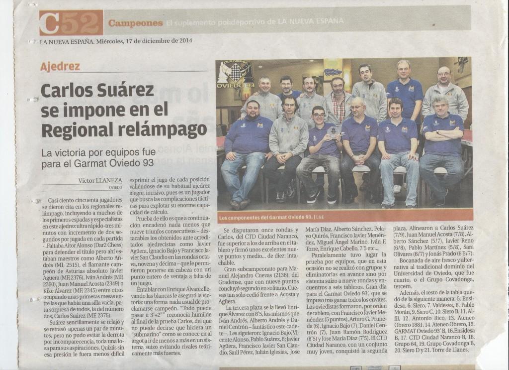 Carlos Suárez se impone en el Regional Relámpago