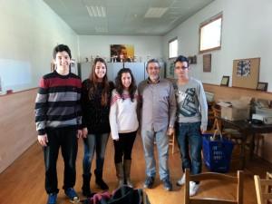 El grupo con De la Villa