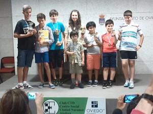 Los premiados y la campeona