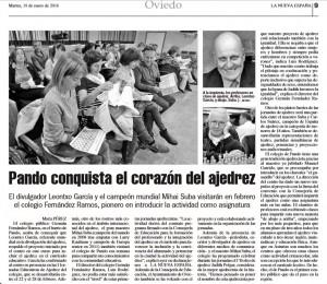 La Nueva España, 19 de Enero 2016
