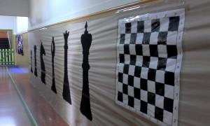 Decoración de uno de los pasillos del colegio