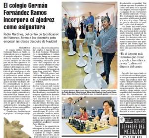 La Nueva España, 18 de Noviembre de 2015