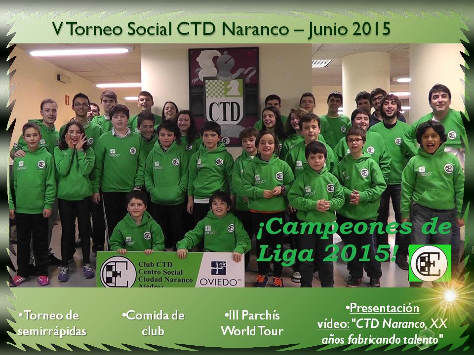V Torneo Social CTD Naranco – Junio 2015!!