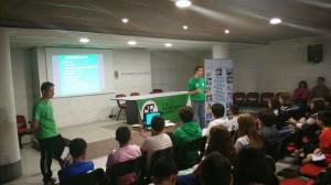 Marcos Llaneza, durante su presentación