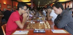 Rodríguez llegó a jugar  una ronda en la mesa 1