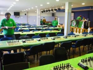 Vista general de una de las salas, antes de comenzar